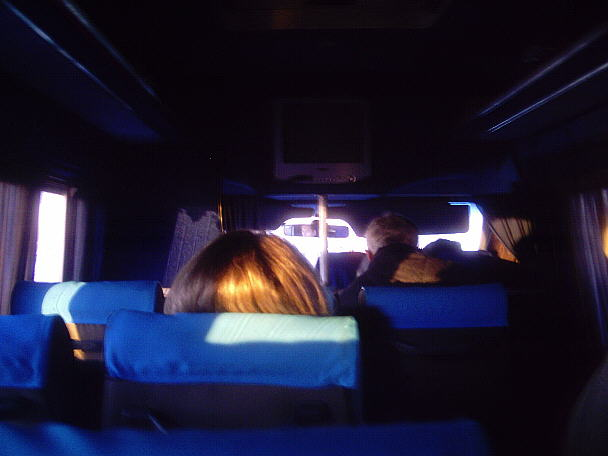 inside a bus to Kremenchuck